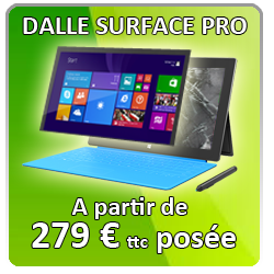 Changment dalle surface microsoft