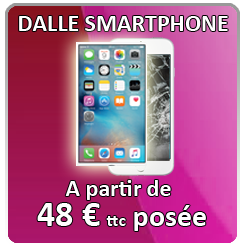 Remplacement dalle smartphone