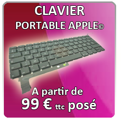 Remplacement clavier Apple Mac
